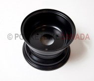 Black 3 Hole Rim - Rear/Front, No Flange for 110cc, T1 Rebel, ATV Quad 4-Stroke - G1020035